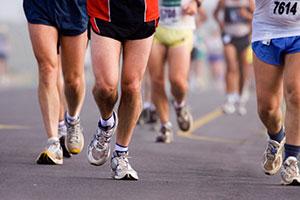 Feet of runners