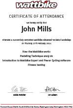 wattbike certificate