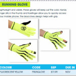 Running Glove promotion
