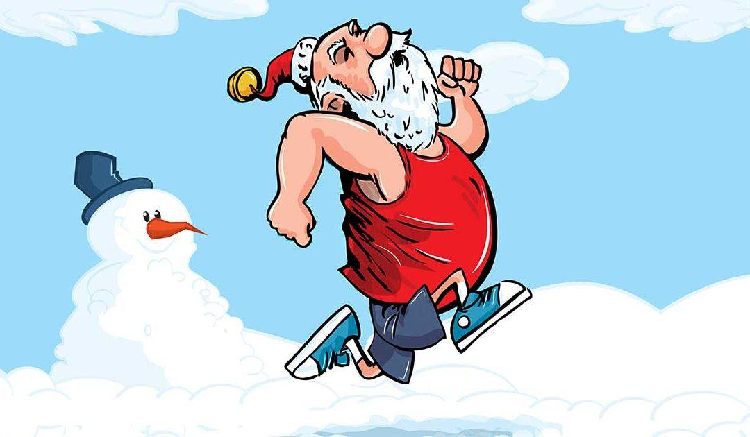 Santa exercising